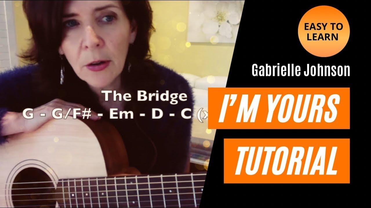 I'm Yours (Jason Mraz) – BEGINNER'S GUITAR TUTORIAL – Acoustic