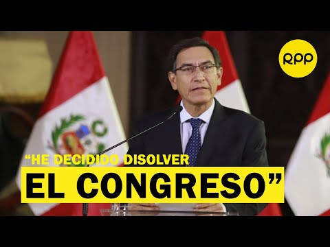 Martín Vizcarra cierra el Congreso de la República y llama a elecciones