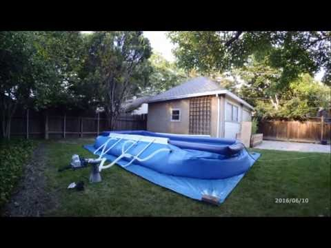 Intex 18ft X 10ft X 42in Oval Frame Pool Set Up and Cost