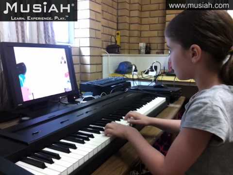 Piano Video: Online Piano Lessons Song #19 Let's Mimic played by Elizabeth