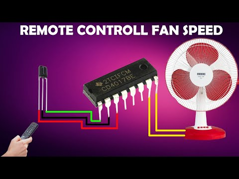 HOW TO MAKE  REMOTE CONTROL FAN SPEED  CIRCUIT USING  (CD4017)