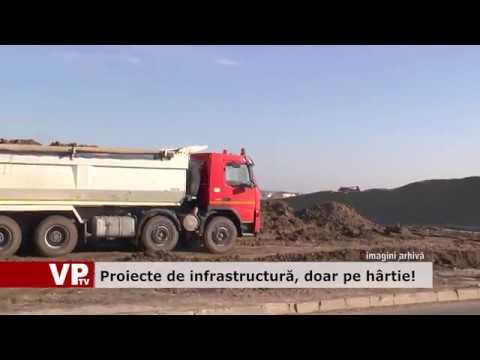 Proiecte de infrastructură doar pe hârtie