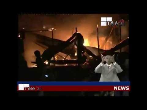 TÉLÉ 24 LIVE: Incendie au Camp LUFUNGULA, Les policiers sinistrés sont sans abris à KINSHASA