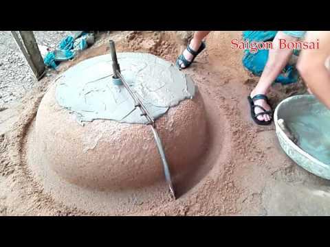 Quay chậu tròn lùn - Make a new bonsai pot with the same tool