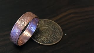 Video コインリング 古銭の指輪 の作り方 How to make a Japanese coin ring. MP3, 3GP, MP4, WEBM, AVI, FLV Januari 2019