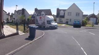 Another example of poor driving in Portadown.  A van cutting a corner an leaving virtually no space on my motorcycle.