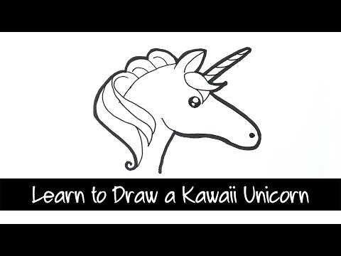 Learn to Draw a Kawaii Unicorn step by step