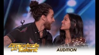 Video Us The Duo: Couple Music Band Sing Their MARRIAGE Song!  | America's Got Talent 2018 MP3, 3GP, MP4, WEBM, AVI, FLV Juni 2018