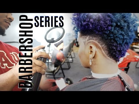 New hairstyle - New Hair Cut!!! Barbershop Series #6 Tapered Mohawk with Custom Design  KendraKenshay