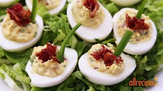 Appetizer Recipes - How To Make Jalapeno Bacon Cheddar Deviled Eggs
