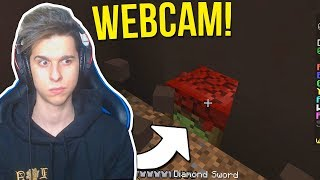 BEDWARS IN WEBCAM!!