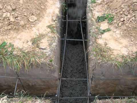 заливка бетона миксером -