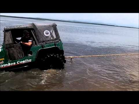 Bumper flys off Jeep During a Lake Rescue