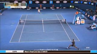 Tennis Highlights, Video - Djokovic vs. Ferrer - Australian open 2013 SF. Highlights (HD)
