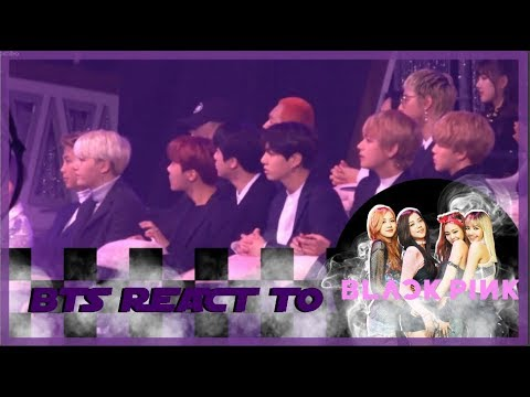 COMPILATION BTS REACT TO BLACKPINK