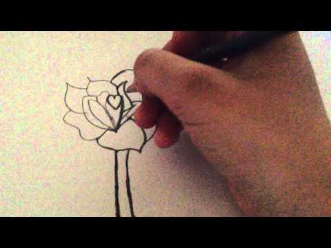 How to draw a rose hoe teken je een roos