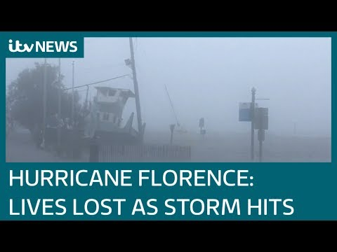 Hurricane Florence claims its first lives - including mother and child | ITV News