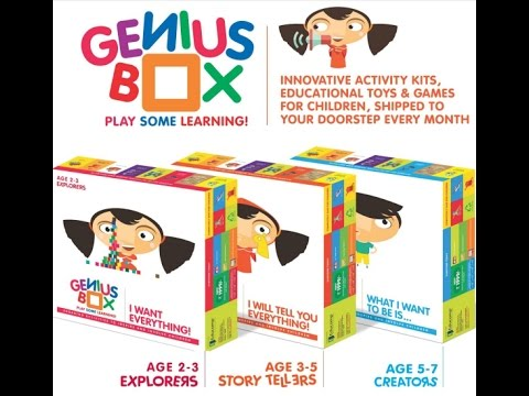 GENIUS BOX -Full Educational Activity BOX for Kids /Children by  EDUCOMP (Demo - English)