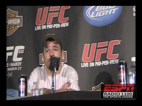 UFC 111 Post Fight Jim Miller surprised he didnt lose the decision