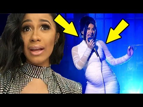 Cardi B Reacts to being Pregnant by Offset on SNL