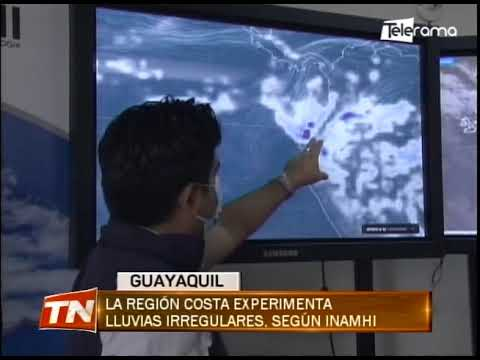 La región Costa experimenta lluvias irregulares, según Inamhi