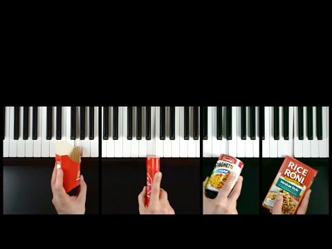 Musician Plays Commercial Jingles With Their Corresponding