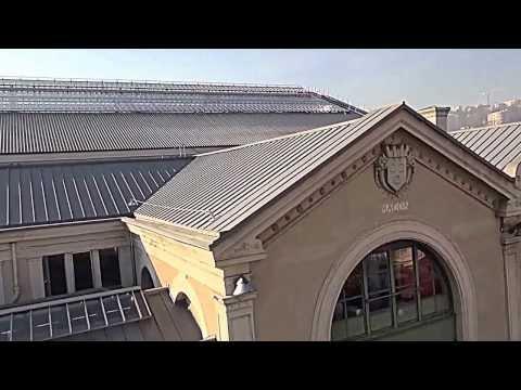 Gare de Lyon Perrache dans le Rhône vue par drone