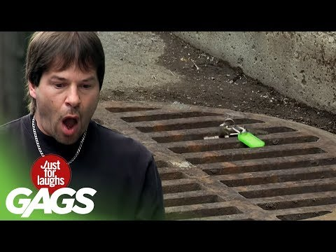 Dropping Car Keys In The Sewer Prank