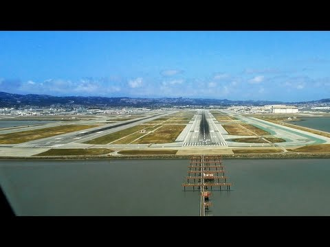 landing - Lufthansa Airbus A380 landing in San Francisco KSFO - Original version with English Subtitles. Partly taken from the DVD | BD