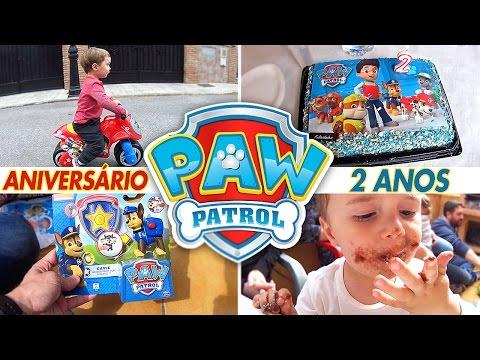Patrulha Canina Aniversário de 2 Anos do Maikito Festa Bolo e Brinquedos Paw Patrol
