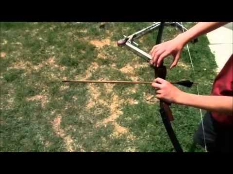 Home-Made Recurve Bow with arrow
