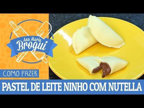 Receitas Doces - COMO FAZER PASTEL DE LEITE NINHO COM NUTELLA Ana Maria Brogui #338