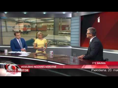 """Veselības ministrs Dr. Guntis Belēvičs LTV1 """"Rīta Panorāma"""""""