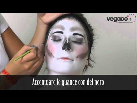 Tutorial trucco scheletro glamour Carnevale