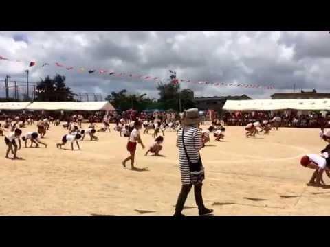 2014.6.29 浦添小学校六年生の組体操演技 前半