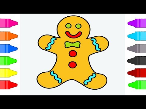 Gingerbread Man Coloring Pages For Kids | Coloring Book For Children