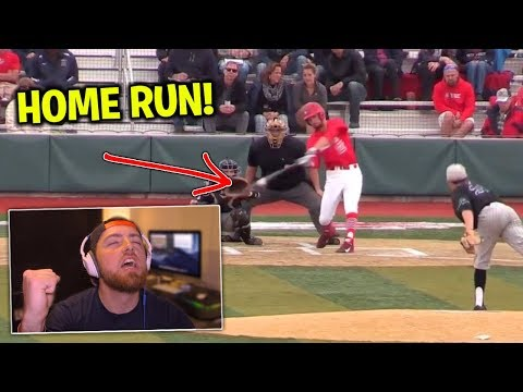Reacting To My COLLEGE Baseball Highlights!
