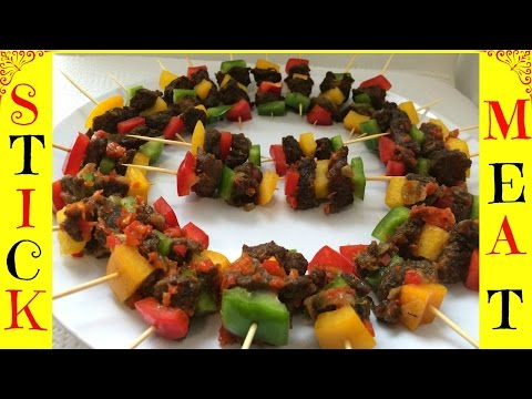 How to Make Stick Meat | Nigerian Stick Meat | Small chops