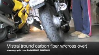 10. Moto Guzzi Breva 750 Exhaust Compare