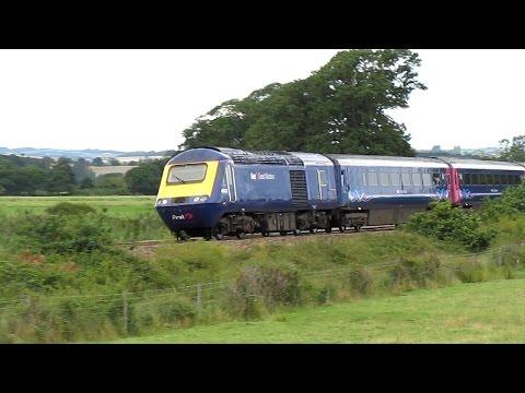 First Great Western 43022 speeds past Powderham
