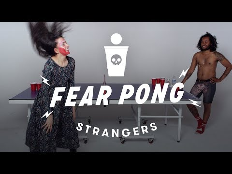 Strangers Play Fear Pong - Gagan vs Jamal