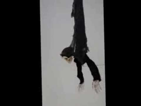 Hanging Black Skeleton Animated Prop – Halloween Decoration   trendyhalloween.com