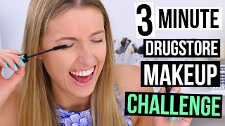 3 MINUTE DRUGSTORE MAKEUP CHALLENGE || Back to School Edition by Rachhloves