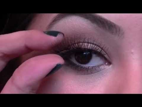 Applying False Eye Lashes