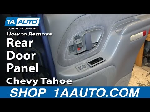 How To Remove Install Rear Door Panel 1995-99 Chevy Tahoe GMC Yukon