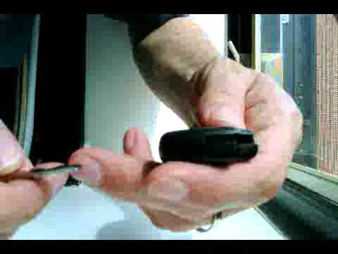 How to Replace or Swap a Battery in a Mercedes Benz Keyless SmartKey Key Fob B200 used in Example