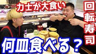 何皿食べる?お相撲さん(力士)に好きなだけ回転寿司食べてもらった結果…