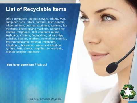 Certified Computer Recycling in Laval - What is the procedure?