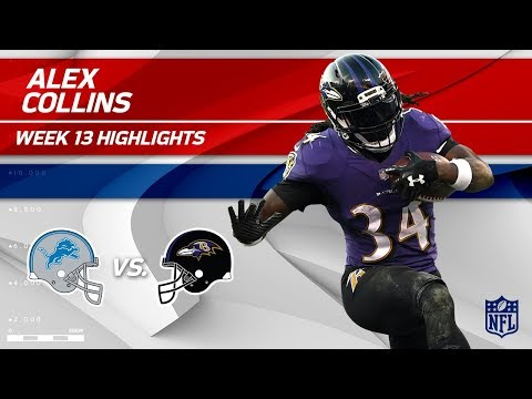 Video: Alex Collins' Double TD Day vs. Detroit! | Lions vs. Ravens | Wk 13 Player Highlights