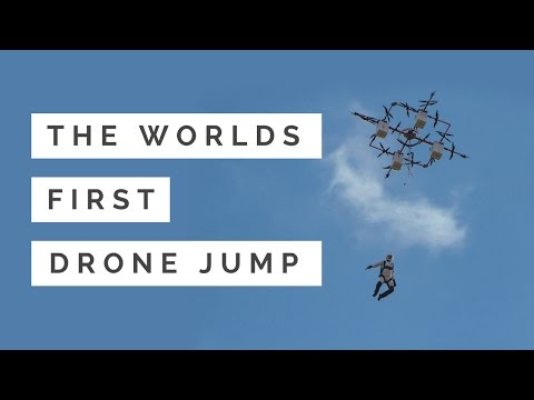 Skydiving from a Drone World First